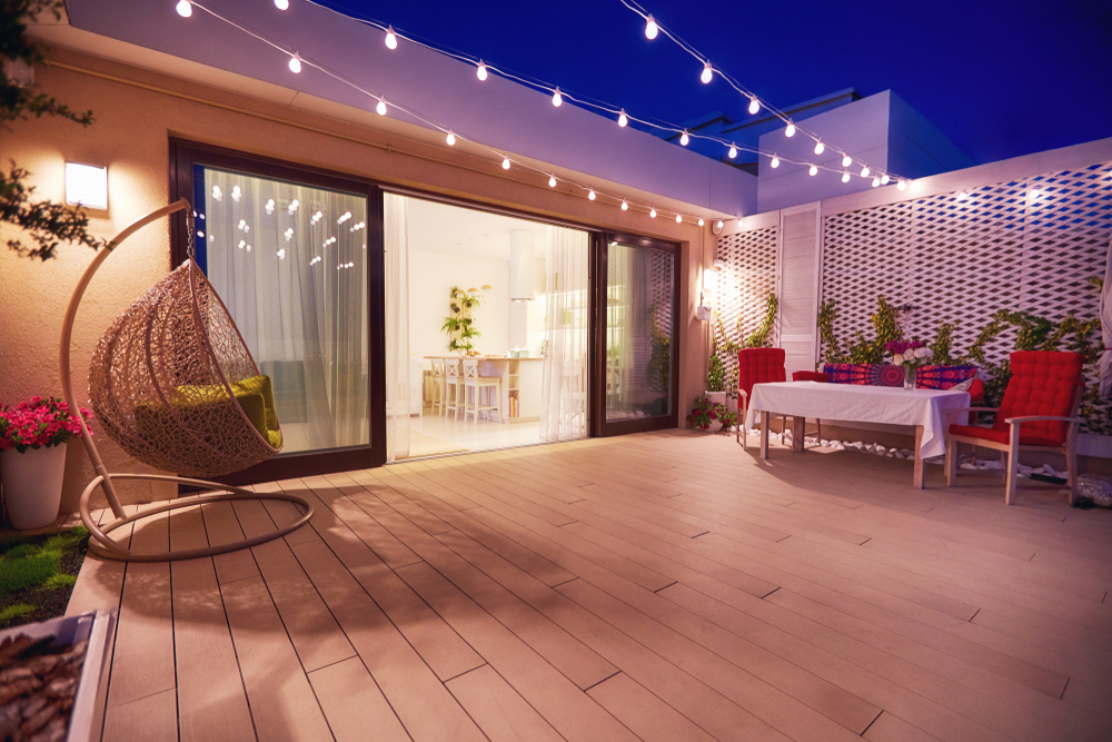 Grand balcon aménagé
