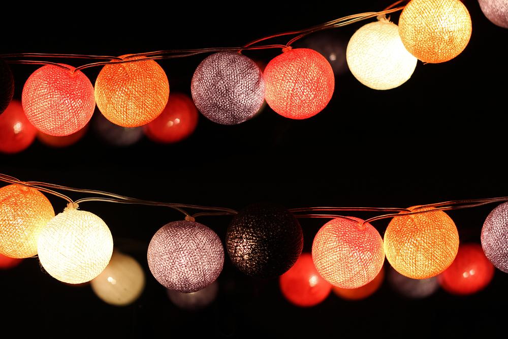 Guirlande de lampions colorés