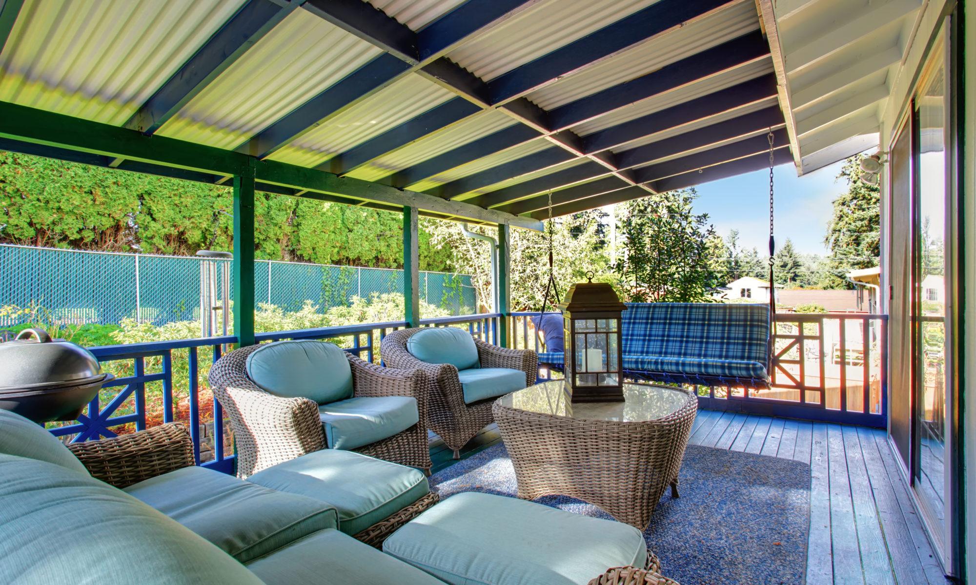 Terrasse avec mobilier cosy