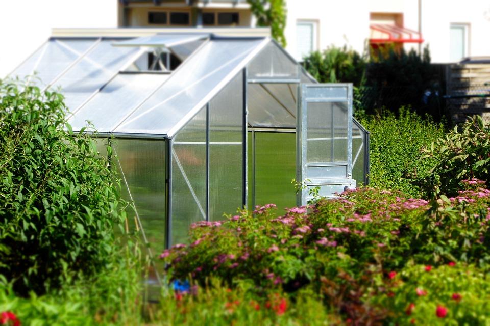 Une serre de jardin